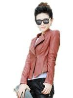 Free Shipping! Spring New Korean Plus  Size Slim Short Motorcycle leather  Clothing  M L XL XXL XXXL