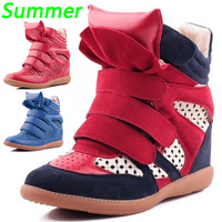 Summer Breathable Air Isabel Marant Bekett High-top Hollow Wedges Sneakers,EU 35~40,Height Increase 6cm,No Tags,Women's Shoes