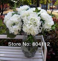 4pieces 45cm Tall High Simulation Silk Hydrangea Artificial Flower Stem White