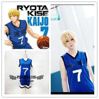 Kuroko no Basketball Cosplay Anime Cosplay Kise Ryota Cosplay Costume No. 7 Basketball Jersey (Free Shipping)