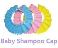 Wholesale Snap-Button Adjustable Baby Shampoo Cap, Essential Bath Cap Bath Visor for Baby, Free Shipping