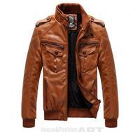 Winter Motorcycle Jacket Man Black Leather Jackets For Men PU Leather Coats Fashion 2014 Korean Outerwear Plus Size XXXL FS002