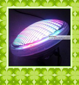 RGB LED swimming pool light PAR56, 12*3W Edison Multi RGB LEDs, thickness glass,AC12V, waterproof  2pcs/lot, CE RoHS  DHL free