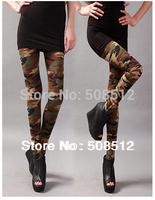 PS-P006  FREE SHIPPING Women's fashion elasic camouflage leggings,  sexy slim leggins, soft hand feel, good stretch