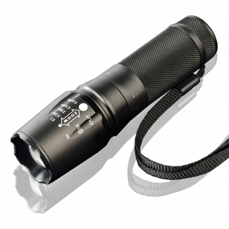 T6 900Lm 5 modes flashlight Waterproof Led Flashlight torch + AAA Battery socket + Retail colorful box(China (Mainland))