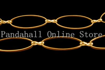 Handmade Brass Chain, Golden Color, Mother Link: 10.5mm wide, 25mm wide, 1mm thick, Son Link: 1.5mm wide, 7.5mm long(China (Mainland))