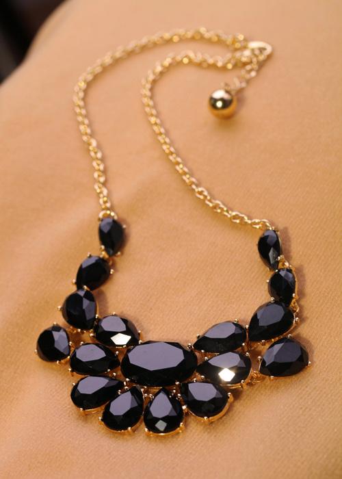 Fashion jewelry luxury gem women's short design necklace Factory Wholesale(China (Mainland))