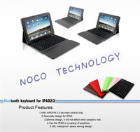 50PCS/LOT 8Color New 9.7inch Leather Case + wireless Bluetooth Keyboard for iPad 2 3 4 new ipad with Retail box Free shipping