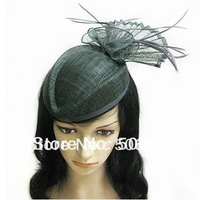 Fascinator Feather Net Hat Hair Clip Races Bridal Wedding Accessory Royal Hat Newest Headwear Hats 6pcs/lot Free Shipping