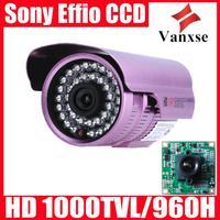 Vanxse CCTV Sony Effio CCD 960H/700TVL Security Camera 36IR D/N Surveillance Camera OSD Waterproof Security camera
