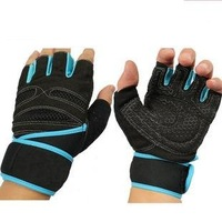 HOT!Half Finger Sports Fitness Gloves Exercise Training Gym Goalie Gloves Multifunction with Extended Wrist Protector