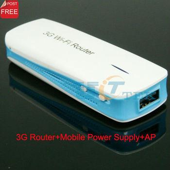 Portable Mini Wireless AP WIFI wi-fi 3G Router Modem Mobile Power Bank  1800mA Singapore Post Free Shipping