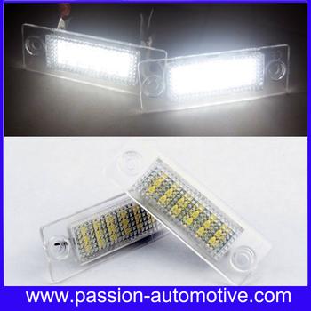 Free Shipping 2x LED License Plate Light For Volkswagen VW Touran 1T SKODA Superb MK1 3U B5