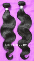 "Free Shipping 22""24""26"" Brazilian Virgin Human Hair Body Wave Natural Color Tangle Free No Shedding Unprocessed  Hair"
