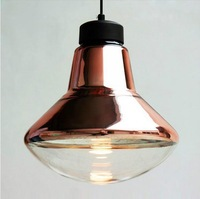 Free shipping Tom Dixon copper shade pendant lights Modern glass dining room pendant lamp Milan creative lighting fixtures