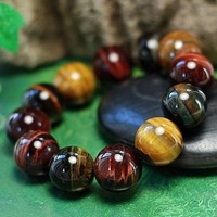 New Stye 2013 Apotropaic Lucky High Quality Three-color Natural Tiger Eyes Stone Male's Bracelet Fashion Men's Jewelry Wholesale