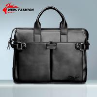 Hot Sale Brand New Genuine Leather Men's Briefcase Messenger Bags Handbag Shoulder Large Laptop Bag For Men Black Brown 2237