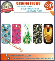 Free Shipping 5 Patterns 5.0 inch Design Case For THL W8/THL W8 Beyond/THL W8S, Assorted Patterns