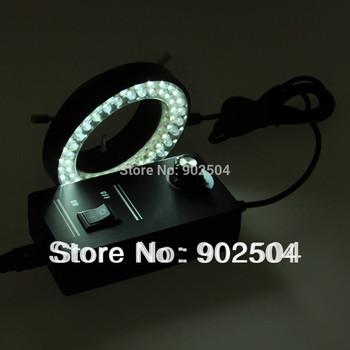 White Ring Light Stereo Microscope 60 LED Ring Lamp with Adapter 220V or 110V