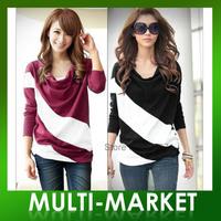 Free shipping/ New Fashion Womens Cotton Long Sleeves T-Shirt Wholesale