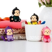 lovely 5color monkey Model USB 2.0 Flash Memory Stick Pen Drive 2GB 4GB 8GB 16GB 32GB Free Shipping
