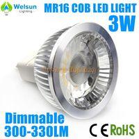 6X  Dimmable 3W COB LED Lamp MR16 E27 GU10 GU5.3 LED Light Bulbs