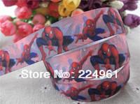2013 new arrival 7/8''  22mm Spider man printed grosgrain ribbon cartoon ribbon sports ribbon 10 yards tape
