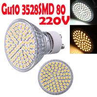 4pcs GU10 led Warm White / White 4W 3528SMD 80 LED Home Office Spot Light led Bulb Lamp 230V 300LM 3600K 6500K