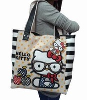 Hello kitty new handbags portable shoulder leisure bag handbag free shipping
