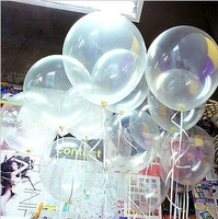 $Free shipping 100pcs/lots wholesales 12 inch 3.2gclear balloons ,transparent balloons , wedding/party/brithday decoration