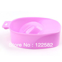 Free shipping 5 pieces  Nail art common bubble hand bowl softening cutting dead skin discharge false nails tool color randomly