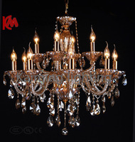 Free shipping 2013 Modern crystal chandelier  National top K9 crystal candle chandeliers   KM6076 L8 + 4