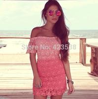 2014hot summer  Women Sexy Elegant Asymmetric Chiffon Long Maxi dress Chiffon dress Elastic Waist JMS-001