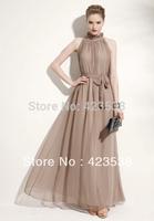 2014 Summer spring Hot Women Sexy Elegant Asymmetric Chiffon Long Chiffon Dress Elastic Waist dress JMS-005