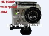 Portable 1080P Waterproof Car Bike Sports Helmet Action Dash Camera Cam dvr (like gopro )+170 wide Angle lens Camera