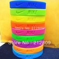 2013 hotsale sports wristband silicone bracelet   202*12*2mm size 100pcs/lot  free shipping