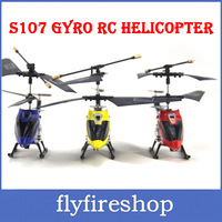 Super Deal S107 S107G Gyro Electric 3CH Metal Infrared Remote Control Mini RC Helicopter Heli Copter RTF 3CH Child Toys