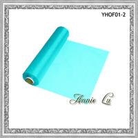 2013 New Aqua Blue Silk Organza Fabrics Roll For Weddings- Free Shipping
