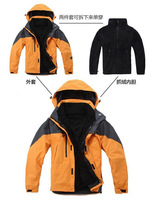 High-quality two-piece with fleece liner waterproof and breathable outdoor jackets warm ski jacket men outdoor leisure jacket