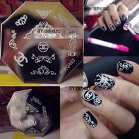 Nail Art Stamp Stamping Image Template Plate  Elegant Logo  QA63   stamping plates