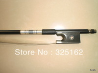 5 PCs Black carbon Fiber Violin Bow 4/4