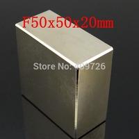 WholeSale !Super Strong Rare Earth NdFeB Block Magnet Neodymium N50 MagnetsF50x50x20mm Free Shipping