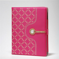 For ipad 2 3 4 Luxury  Fashion Crystal Diamond PU Leather Smart Stand Holder Protective Cover for Apple ipad 2 3 4  cases