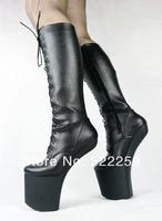 [(My God)] Free shipping 2014 Fashion lady gaga caltha medium-leg 20cm women sexy party dance boots high-heeled Motorcycle shoes