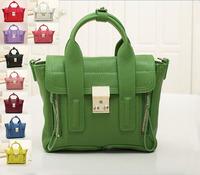 10 Colors 2014Fashion Designer Brand Mini Flap Bag With Zipper High Quality Women's Genuine Leather Small Bag Ladies Shouder bag