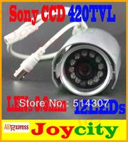 CCTV Camera Waterproof 12Leds IR Night Vision 1/3 Sony CCD 420TVL Surveillance Video Camera In Or Outdoor Free Shipping Joycity