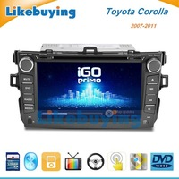 2 Din Car DVD GPS for Toyota Corolla 2007 2008 2009 2010 2011 with Bluetooth,AUX function, FM/AM Radio,Free 4G SD card with Map