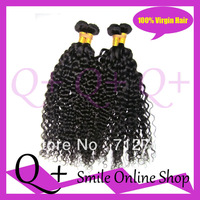 Free Shipping Mixed Length 4pcs lot Deep Curl Brazilian Virgin Human Hair Weaving Natural Color can Dye can restyle