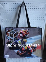 100PCS/LOT.Reusable PP woven shopping bag eco-friendly bag  fashion big capacity storage bag  with  fruits design/ Freeshipping