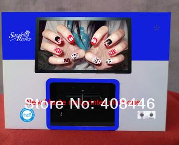 2013 new art Maple Nail printer,5 nails nail printer ,10 inches touch screen